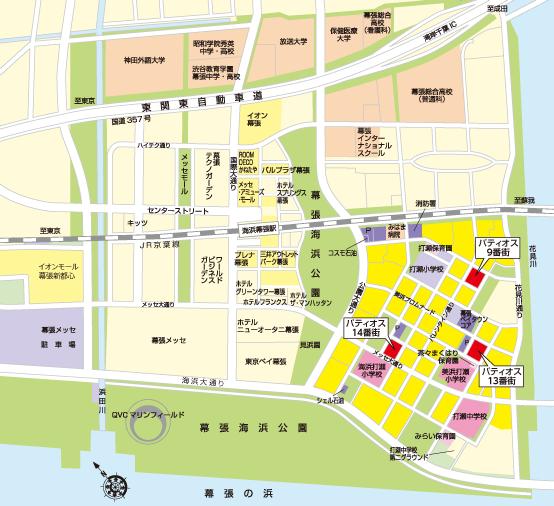 幕張ベイタウンマップ